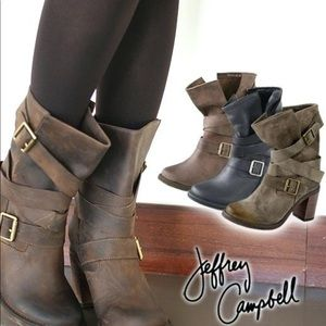 Jeffrey Campbell motorcycle boots 8.5